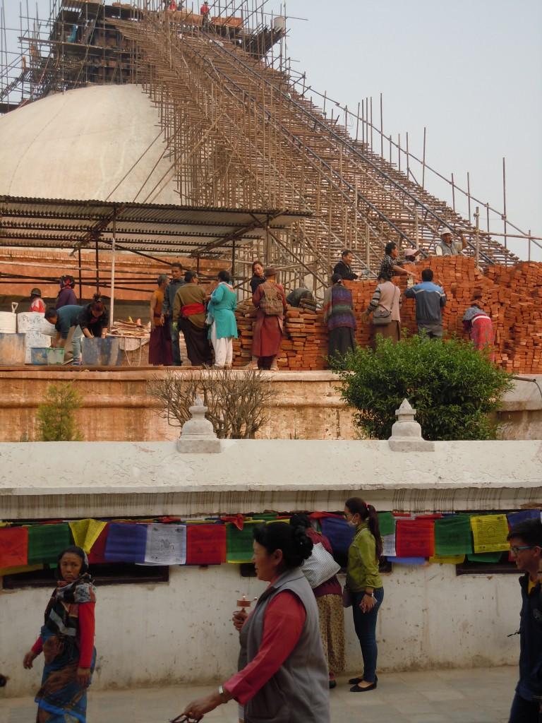 Aufbau Stupa